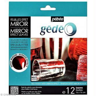 Feuilles effet miroir Gédéo - Rouge - 12 pcs