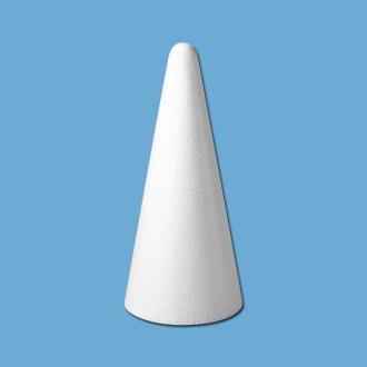 Cone en polystyrène 21 cm - bout rond