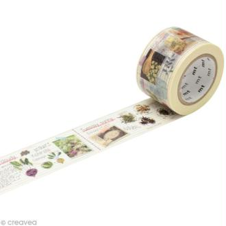 Masking Tape large - Beige - Journal de cuisinier - 30 mm x 10 m