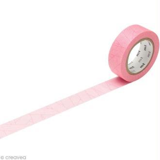 Masking Tape - Rose - Lacets croisés - 15 mm x 10 m