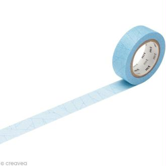Masking Tape - Bleu - Lacets croisés - 15 mm x 10 m