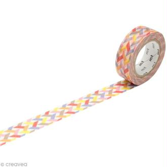 Masking Tape - Rouge multicolore - Traits - 15 mm x 10 m