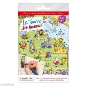 Planche décalcomanies - Le tournoi des animaux + décor