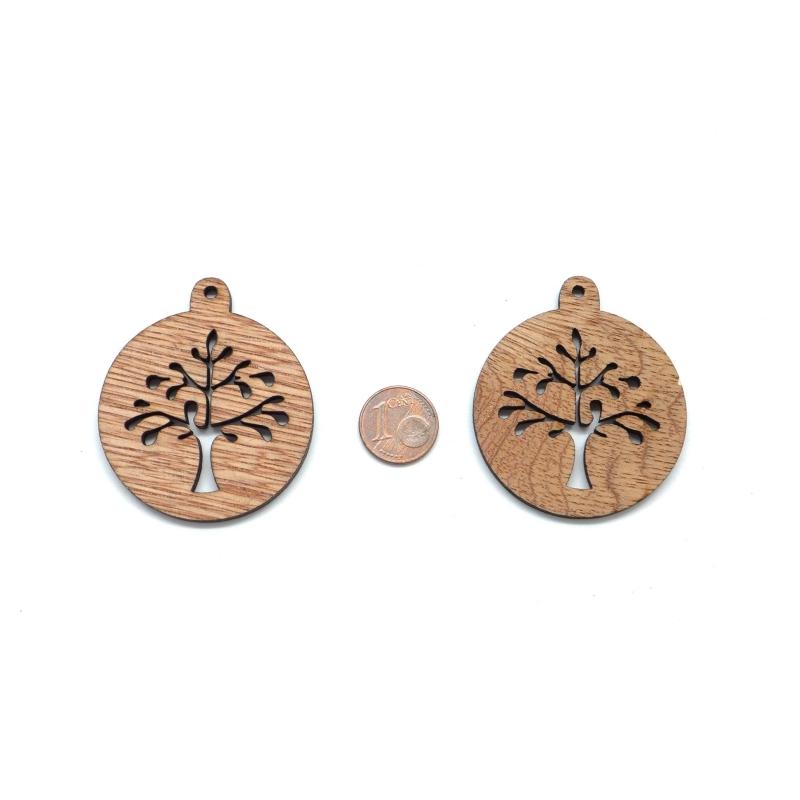 4 pendentifs arbre de vie en bois pour scrapbooking bijoux pendentif fantaisie creavea - Arbre a bijoux en bois ...