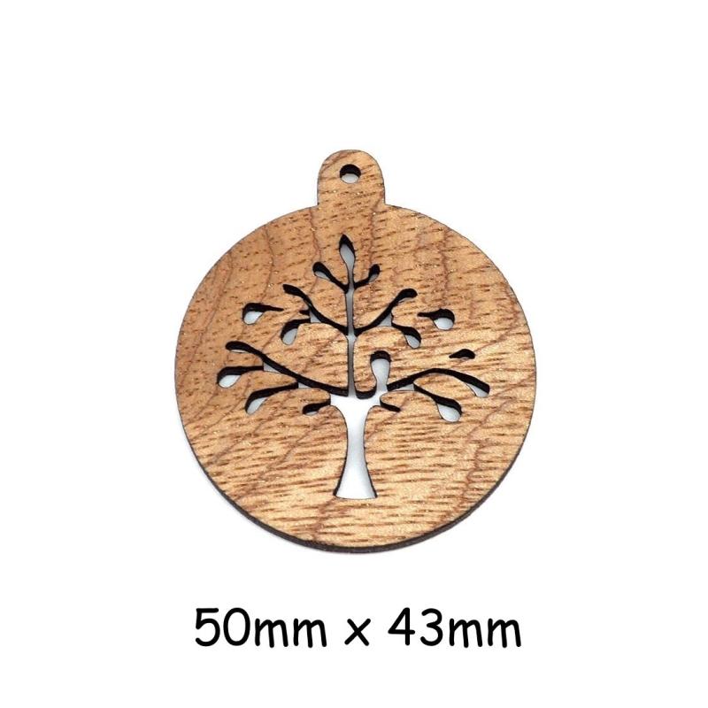 4 pendentifs arbre de vie en bois pour scrapbooking bijoux pendentif fantaisie creavea. Black Bedroom Furniture Sets. Home Design Ideas