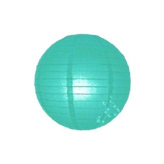 Lampion boule chinoise vert turquoise clair