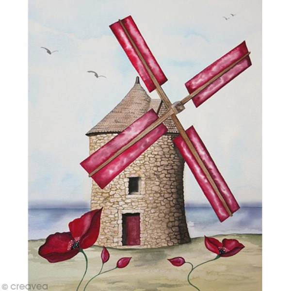 Image 3D Paysage - Moulin - 24 x 30 cm - Photo n°1