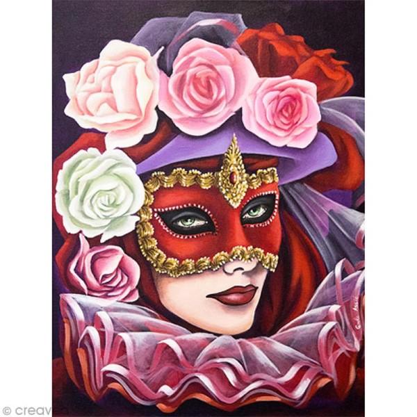 Image 3D Divers - Masque de Venise - 30 x 40 cm - Photo n°1