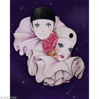 Image 3D Divers - Pierrot et Colombine - 24 x 30 cm