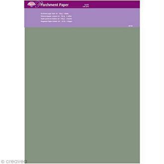 Papier parchemin Pergamano - Ardoise - 5 feuilles calque (62910)
