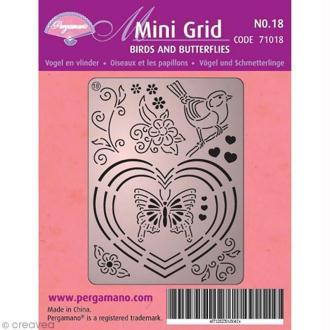 Mini grille Pergamano 18 - Oiseau et papillon (71018)