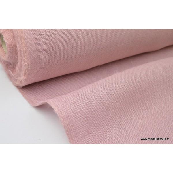 tissu toile de jute rose x1m tissu uni creavea. Black Bedroom Furniture Sets. Home Design Ideas