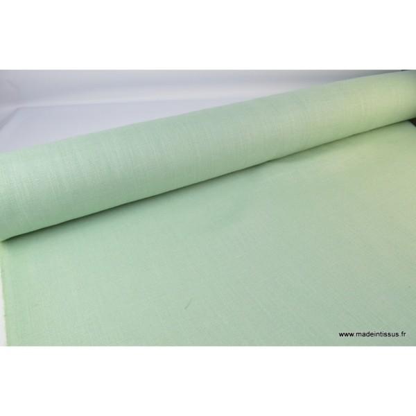 tissu toile de jute menthe x1m tissu uni creavea. Black Bedroom Furniture Sets. Home Design Ideas