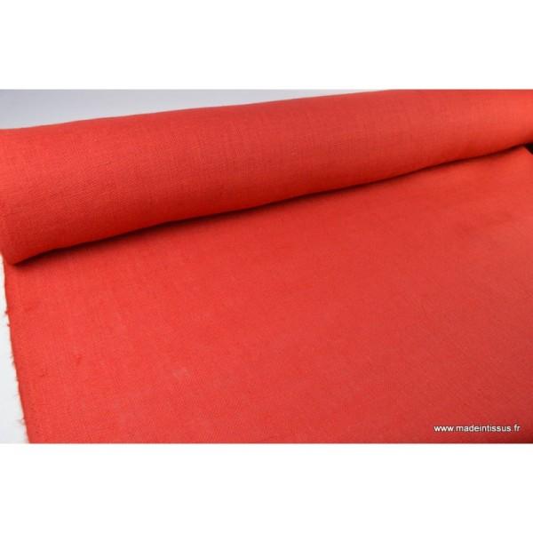 tissu toile de jute rouge x1m tissu uni creavea. Black Bedroom Furniture Sets. Home Design Ideas