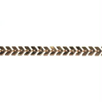 Chaîne épis / chevron doré 7x6 mm x10 cm
