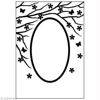 Classeur d'embossage Nature ovale - 10,6 x 15 cm