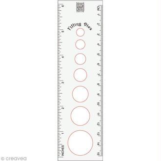 Règle quilling 15 cm et gabarits cercle