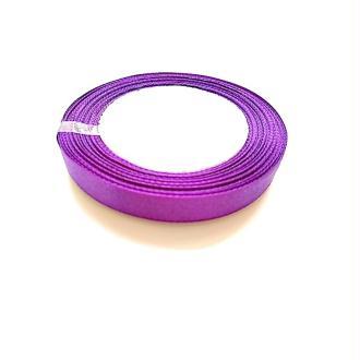 Ruban en Polyester Satin Violet 12.6mm, 1 Rouleau(Env. 25 M/Rouleau)