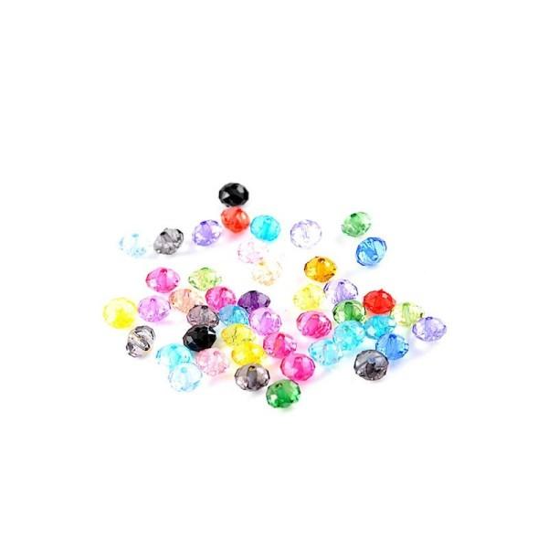 200 Perles Craquelées en Verre Rond Couleur au Hasard 6mm
