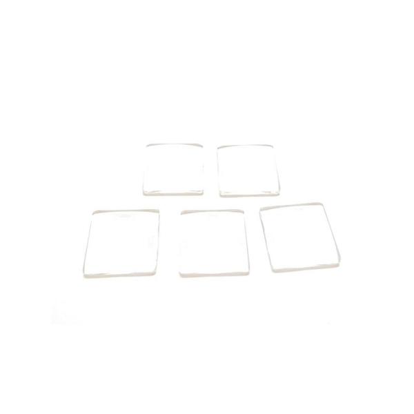 10 Cabochons Dôme en Verre Carré Transparent 25mm x 25mm - Photo n°1