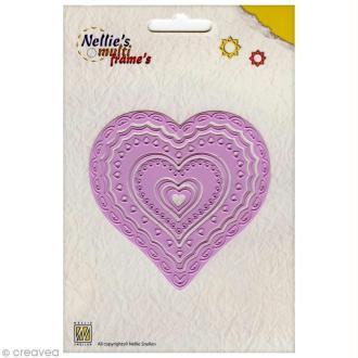Dies Nellies Snellen Cadres multiples - Coeurs décoratifs