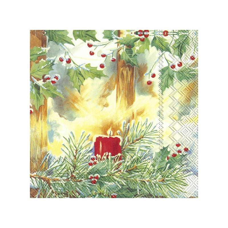 4 serviettes en papier d coupage collage 33 cm bougie noel no 101 serviette en papier no l - Decoupage papier deco noel ...