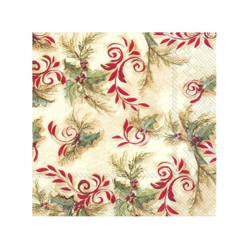 4 serviettes en papier d coupage collage 33 cm noel no 102 serviette en papier no l creavea - Decoupage papier deco noel ...