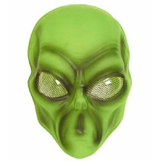 12 Masques alien vert pvc souple