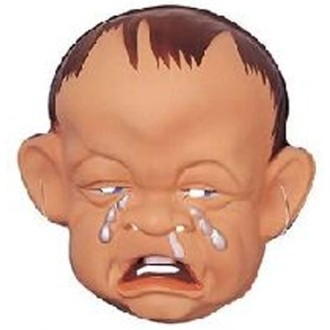 6 Masques adulte bébé pleurant PVC souple