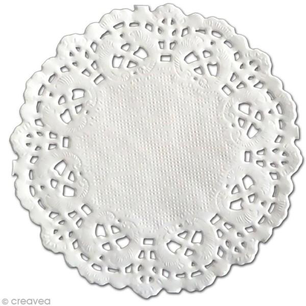 Napperon en papier dentelle - Rond 8,9 cm - 12 pcs - Photo n°1