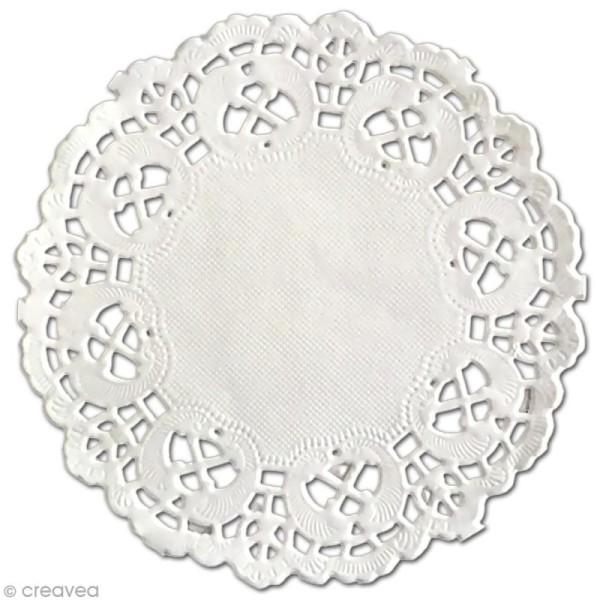 Napperon en papier dentelle - Rond 10 cm - 12 pcs - Photo n°1