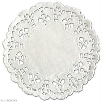 Napperon en papier dentelle - Rond 10 cm - 12 pcs