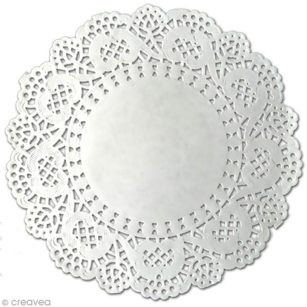 Napperon en papier dentelle - Rond 12,5 cm - 12 pcs - Photo n°1