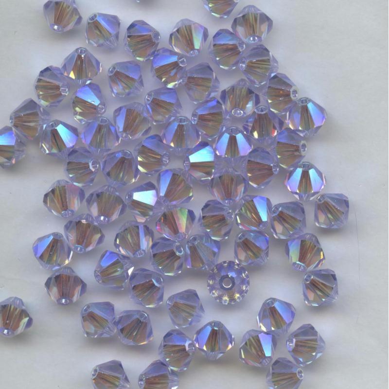 HYACINTH AB2X 15 Perles Toupies 4mm Cristal Swarovski