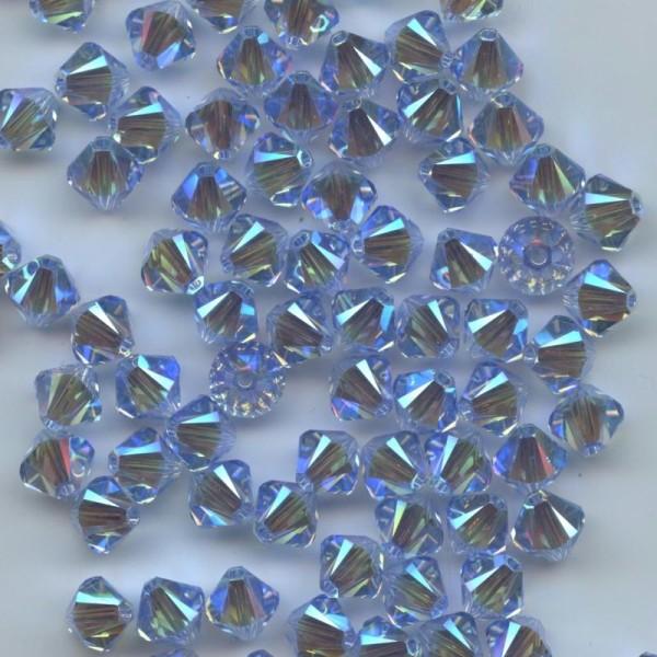 15 Perles Toupies 4mm Cristal Swarovski RUBY AB2X