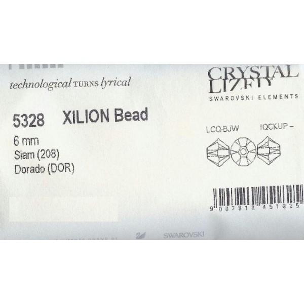 Art 5328 208 30 Swarovski® Kristall Perlen Xilion Beads 4mm SIAM