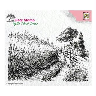 Tampon transparent clear stamp scrapbooking Nellie's Choice CAMPAGNE