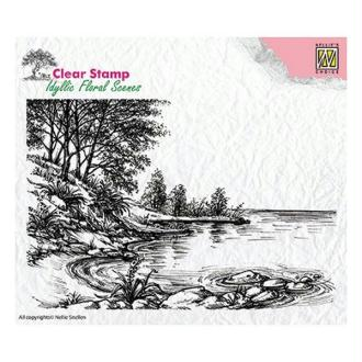 Tampon transparent clear stamp scrapbooking Nellie's Choice ETANG