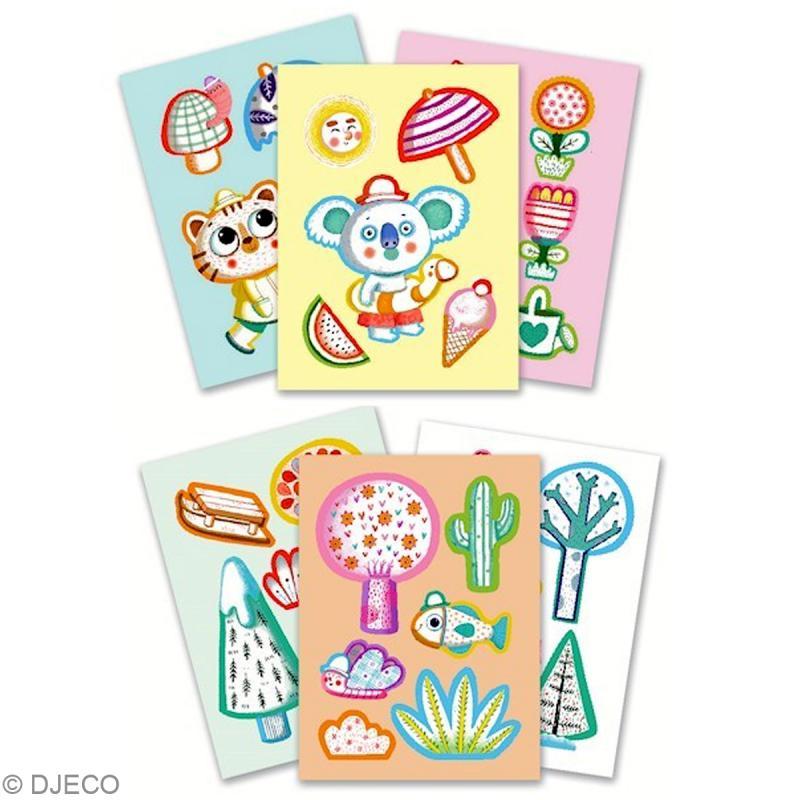 Djeco les petits coloriages pour les petits 4 saisons - Djeco coloriage ...