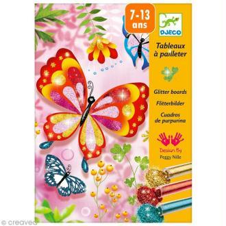 Djeco Les plus grands - Tableau à pailleter - Papillons