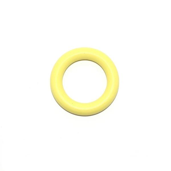 Anneau de dentition en bois 70 mm jaune - Photo n°1