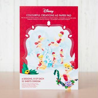 Papier imprimé A5 collection Colourful creations Fée Clochette de Disney - 32 feuilles