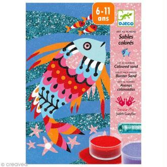 Djeco Les plus grands - Sables colorés - Arcs-en-ciel de poissons