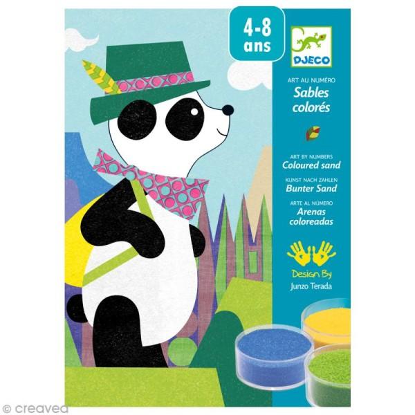 Djeco Les plus grands - Sables colorés - Panda et ses copains - Photo n°1