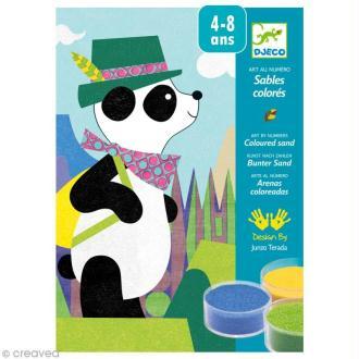 Djeco Les plus grands - Sables colorés - Panda et ses copains