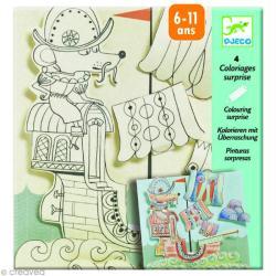 Djeco Petits cadeaux - Coloriages surprises - Explorateurs