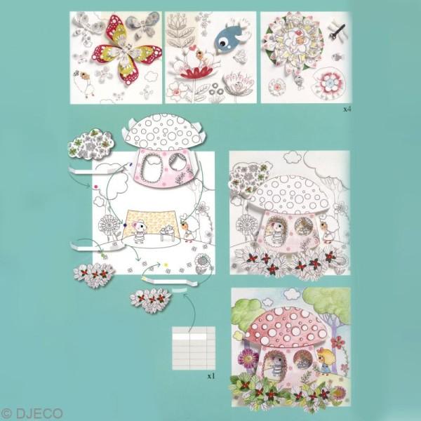 Djeco Petits Cadeaux Coloriages Surprises Poucette Cahier De Coloriage Creavea