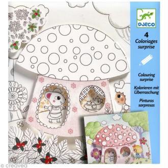 Djeco Petits cadeaux - Coloriages surprises - Poucette