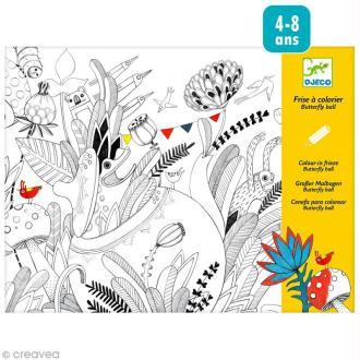 Djeco Petits cadeaux - Frise à colorier - Butterfly ball