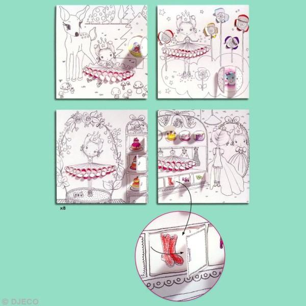 Djeco Petits cadeaux - Coloriage à fenêtres - Les petites portes de Pupi - Photo n°3